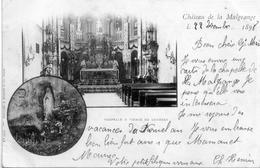 - A3-      JARVILLE : CHATEAU DE LA MALGRANGE - CHAPELLE A LA VIERGE DE LOURDES   -RARE- DOS SIMPLE  Postee 1898 - France