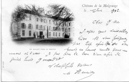 - A3-      JARVILLE : CHATEAU DE LA MALGRANGE - EN ALLANT VERS LA GROTTE     -RARE- DOS SIMPLE  Postee 1902 - Other Municipalities