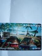 WALLIS ET FUTUNA WF4 FALE PAYSAGE WALLISIEN 80U SC5 UT N° 41359 GE N° TRES RARE - Wallis En Futuna