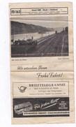 """Allemagne HorairesChemins De Fer""""Frohe Fahrt""""de Bâle(Suisse) à Hoek (Pays-Bas),pubs Mozard Gold,Both,Rolleiflex,Steg  BE - Europe"""