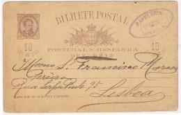 Portugal, 1892, Évora-Lisboa - Lettres & Documents