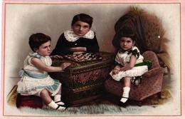 """1 Card & 1 Paper : Jeu De Dames Checkers - Dame  """"Au Bon MARCHE"""" Paris Vente Etrennes Jouets Coffres Differentes  Jeux - Jeux De Société"""
