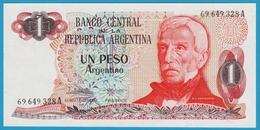 ARGENTINA 1 Peso Argentino  (1983-1984) Serie A  P# 311  General José De San Martín - Argentine