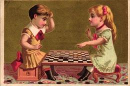 7 Cards Jeu De Dames   Checkers  Dame   PUB Montais Fontenay Le Comte Sodex Thuillier De Beuckelaer Antwerpen - Jeux De Société