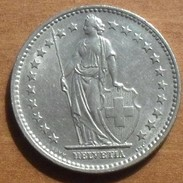 1969 - Suisse - Switzerland - 2 FRANCS, (B), KM 21a.1 - Suisse