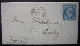 1868 Lettre De Vitré Pour Meslay (mayenne) - Marcophilie (Lettres)
