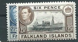 Falkland, Unif 90/92, Scott 101/102  * - Falkland