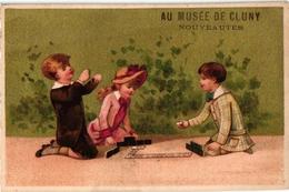6 Cards  PUBGr Hotel Domino PERIGUEUX  Cluny Paris Au Printemps Lyon Bordeaux Children Playing    DOMINO - Gezelschapsspelletjes
