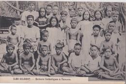 Carte 1920 ILES GILBERT / ENFANTS CATHOLIQUES A TARAWA (beau Plan De Groupe) - Micronesië