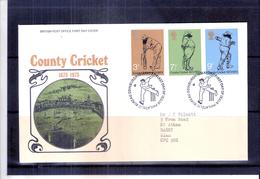 Sports - Cricket - FDC De Grande Bretagne - Série Complète  (à Voir) - Cricket