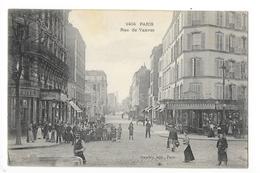 PARIS   (cpa 75)  Rue De Vanves , Belle Animation, Groupe D'enfants  -    - L 1 - District 14