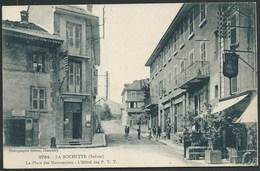 73 LA ROCHETTE ( SAVOIE)  ANIMEE.. LA POSTE.. LE CAFE..PLACE DES MARRONNIERS...C2186 - France
