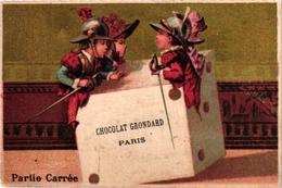 6 Cards  PUB CHoc Poulain Choc Grondrand Aux Deux Passages Lyon Dices DES  Dés  WURFEL Würfel - Autres
