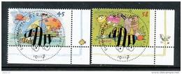 GERMANY  Mi.Nr. 2992-2993 Janosch-Zeichnungen - ESST -BERLIN -Eckrand Unten Rechts - Used - BRD