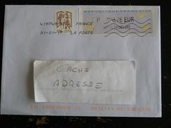 FRANCE ADHESIF YT 849 MARIANNE CIAPPA KAWENA ET VIGNETTE LISA - FLAMME TOSHIBA CODE ROC 41974A PIC BOIS D ARCY YVELINES - France
