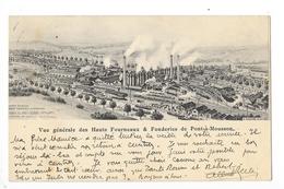 PONT-à-MOUSSON  (cpa 54)  Vue Générale Des Hauts Fourneaux & Fonderie  -    - L 1 - Pont A Mousson