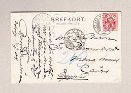 Ägypten Bahnstempel 8.1.1908 Port-Said - Cairo T.P.O. Auf Ansichtskarte Aus Vevey - 1866-1914 Khédivat D'Égypte