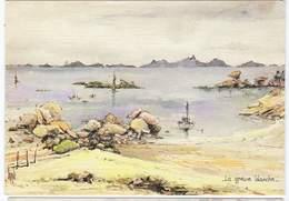 Aquarelle Originale Signée Robert LEPINE -  La Grève Blanche , Barque, Pêche, - Pittura & Quadri