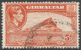 Gibraltar. 1938-51 KGVI. 5d Used. SG 125c - Gibraltar