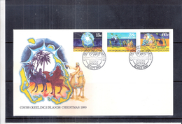 FDC Cocos Islands - Christmas 1980 - Complete Set (to See) - Cocos (Keeling) Islands