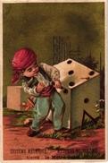 6 Cards  PUB Zan Marie Combe Annonay Biscuit Pernot Cacao Bensdorp Pianos Gent Imp Gouweloos   Dices DES  Dés  WURFEL - Autres