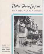 06 CANNES  -  HOTEL IDEAL SEJOUR  -  Dépliant 2 Volets  - - Werbung