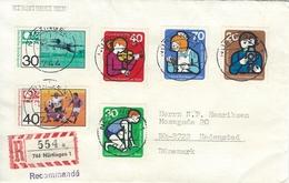 Germany  Registered Cover. 744 Nürtingen  Sent To Denmark H-1083 - BRD
