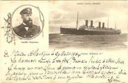 """NORDD  LLOYTD  BREMEN  --  """"  Kaiser Wilhelm II """"   Kapitän Högemann - Allemagne"""
