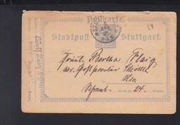 Dt. Reich Privatpost Suttgart 1893 Mangelhaft - Privatpost