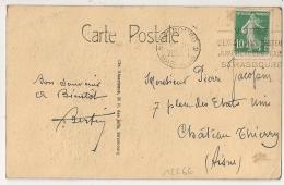 STRASBOURG 2 Bas Rhin VISITEZ L'EXPOSITION PASTEUR JUIN OCTOBRE 1928 - Oblitérations Mécaniques (flammes)