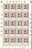 Faroe Islands MNH 1979 #43-#44 Set Of 2 Minisheets Of 20 EUROPA - Féroé (Iles)