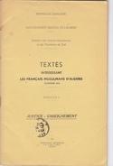 Algerie Guerre Independance -textes Interessant Francais Musulmans -dec 1944 Fascicule 2 - - Documents Historiques