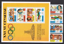 Serie Y Hojita Juegos Olimpicos Montreal 1976. TANZANIA ** - Verano 1976: Montréal