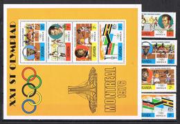 Serie Y Hojita Juegos Olimpicos Montreal 1976. UGANDA ** - Verano 1976: Montréal