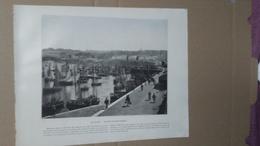 Photo - REPRODUCTION - RECTO : Port De Douarnenez / VERSO : Environs De Vichy : Château De Busset - Reproductions