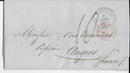 BELGIQUE - 1849 - LETTRE De BRUXELLES => FRANCE Avec ENTREE Par VALENCIENNES - 1830-1849 (Belgique Indépendante)