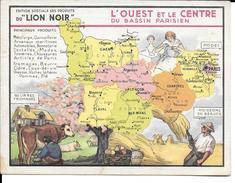 CPA Géographique L'OUEST Et LE CENTRE DU BASSIN PARISIEN, Publicité LION NOIR  3720 - Non Classificati