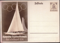 Germany Deutsches Reich Berlin 1936 / Sailing / Olympic Games / Olympische Segelwettkampfe - Verano 1936: Berlin