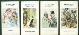 4 Original Cards From Carreras Black Cat Raemaekers WW1 War Cartoons 1916 - Cigarette Cards