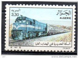 ALGERIE N° 915   * *  ( Cote 2.40e )   Trains - Eisenbahnen