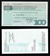 ITALIA 1977 - Mini Assegno - Istituto Centrale Di Banche E Banchieri -  N.°  72 - L. 100 - FDS - [10] Assegni E Miniassegni