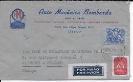 PORTUGAL - 1961 - ENVELOPPE PUB DECOREE THEME AUTOMOBILE De LISBOA - 1910-... République