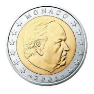 MONACO 2 Euro Kursmünze 2001 Unzirkuliert. - Monaco