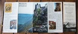 """1958, """"BESANCON"""", DEPLIANT TOURISTIQUE,DOUBS,FRANCHE COMTÉ,BELLES PHOTOS - Folletos Turísticos"""