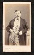 Photo-carte De Visite / CDV / Man / Moustache / Homme / 2 Scans / Photographie Numa Fils / Paris - Ancianas (antes De 1900)
