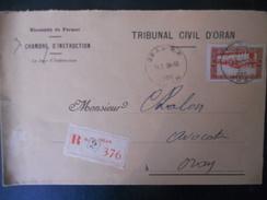 Algerie , Lettre Recommande D Oran 1936 - Lettres & Documents