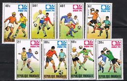 Serie Completa Mundial Futbol Alemania 1974,  RWANDA (republica Rwandaise)  Num 578-585 ** - Copa Mundial