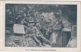 CP Allemande-Soldats Allemand Près De Leur Leur Abri (Guerre 14-18) - War 1914-18