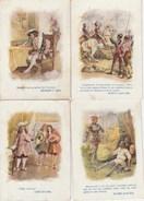 4 CHROMOS  PERSONNAGES HISTORIQUE  FRANCOIS 1er HENRI IV BAYARD LOUIS XIV - Other