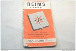 (AR2) Ancien Plan Guide Blay, Reims Tinqueux (Marne) Années 1950 - Europe